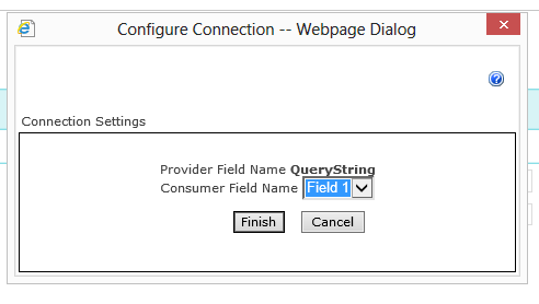 Web Part Connection Dialog