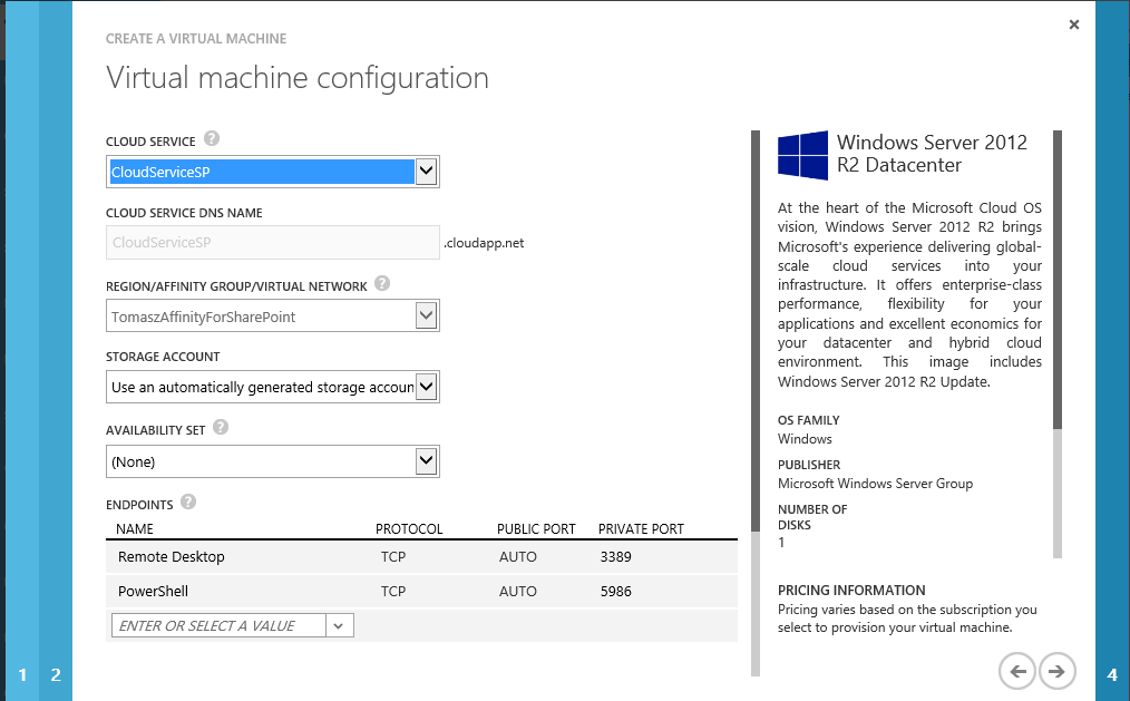 Azure Virtual Machine Configuration