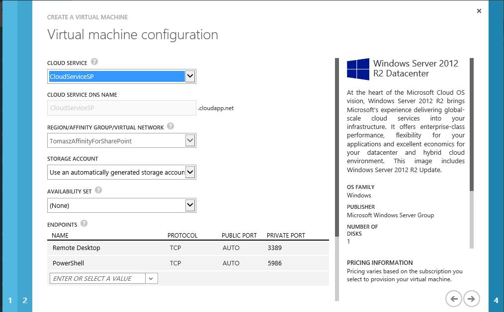 Azure Virtual Machine Configuration