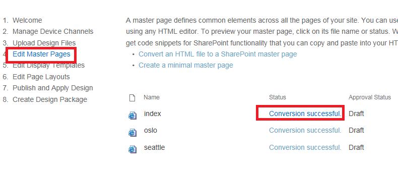 Edit Master Page