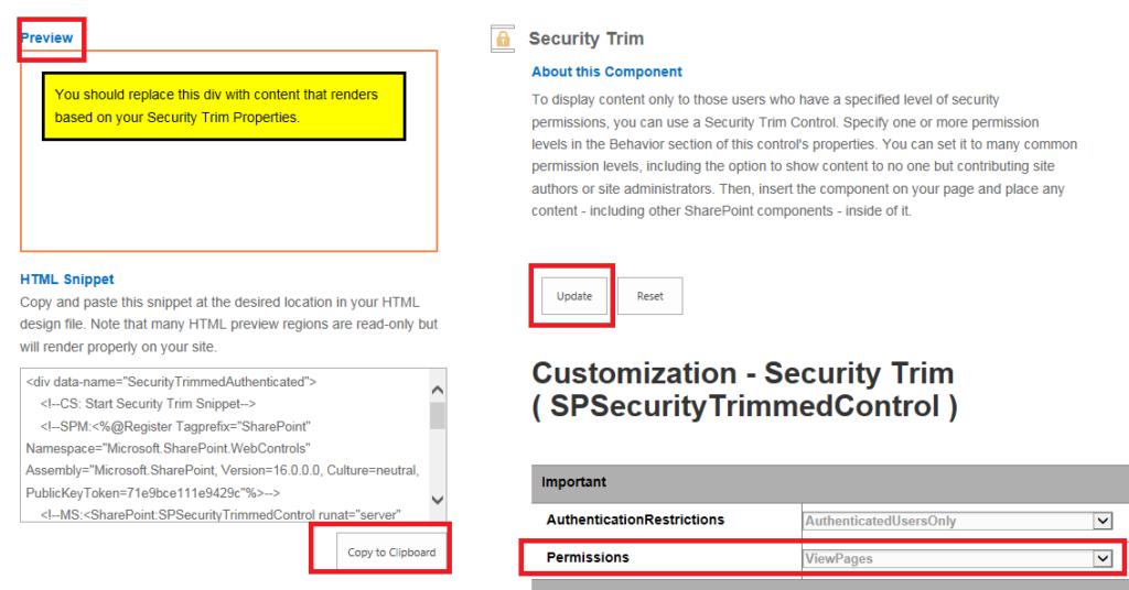 Security Trim Details