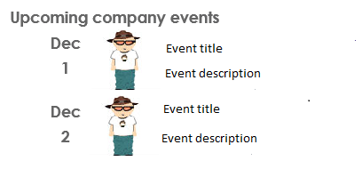 Upcoming Company Events