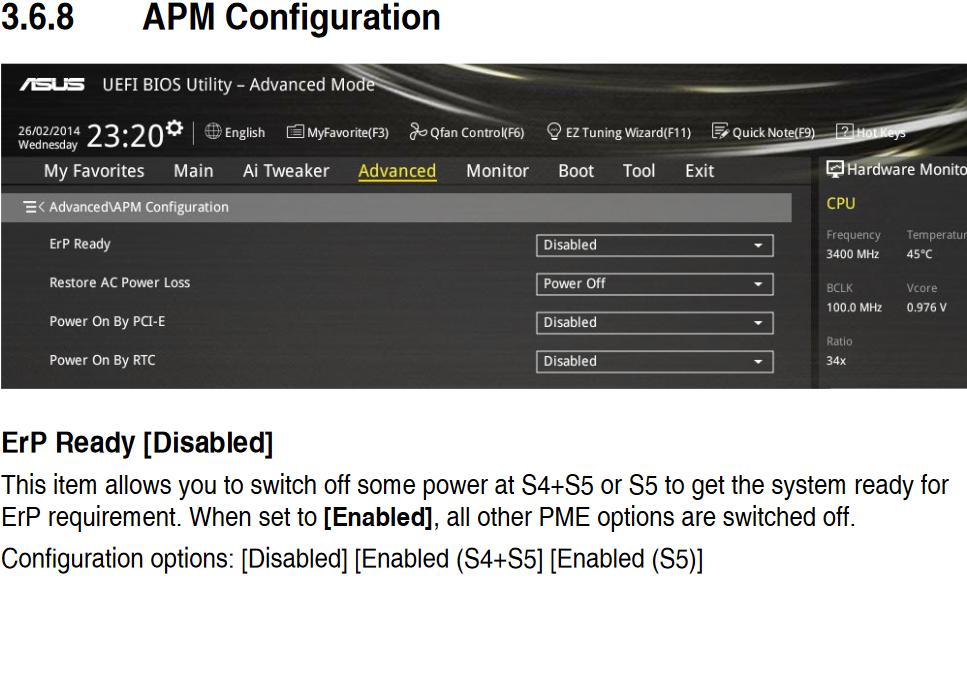 APM configuration